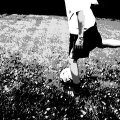football fever (vertblu) Tags: football footballfever soccer smileonsaturday bw mono playground contrast contrasty highcontrast movement onthemove bsquare 500x500 vertblu