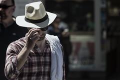 The Indiana Jones Look (Frank Fullard) Tags: frankfullard fullard candid street portrait indianajones lookalike colour color hat film shirt check cool dude galway irish ireland georgelucas harrisonford