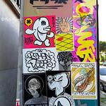 Roma. San Paolo. Sticker art by Merioone, The Bunny, Ripe, Noriz, Roman Doors, Bad Trip, Hero, Manuel Giaconi Tattoo, Attila Tattoo, Bloodpurple, Regelverk-Darum3666,...