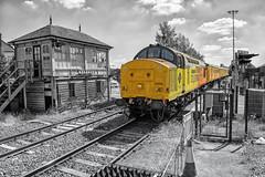 Colas Rail Freight Class 37 37254 'Cardiff Canton' (Barry Duffin) Tags: train railway testtrain networkrail colas class37 37254 newark derbyrtc doncaster 1q50 signalbox 18mm