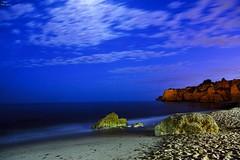 Night sea (Peideluo) Tags: sea seascape beach night nightscape paisaje mar cielo roca agua océano