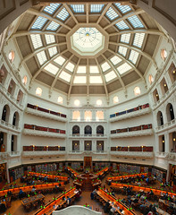 State of the Library (Pat Charles) Tags: statelibraryofvictoria domedreadingroom latrobereadingroom dome duomo octagon octagonal interior inside indoor indoors decoration decor architecture architectural arches columns latrobe library reading books literature literary australia melbourne victoria cbd city urban exploration symmetry symmetrical student students learn learning study studying exams cram cramming radial radiate nikon panorama panoramic pano stitch stitched statelibrary 1001nights 1001nightsmagiccity