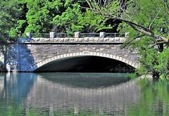 A Quiet Pond (Jan Nagalski (catching up)) Tags: bridge arch archbridge stone stonebridge 1977 pond river reflection quiet serene peaceful nature naturearea forest trails dufferinislandsnaturearea niagarafalls ontario canada summer jannagalski jannagal