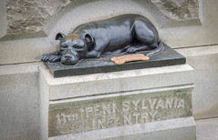 Dog soldier (Tim Brown's Pictures) Tags: gettysburg pennsylvania civilwar battleofgettysburg dog mascot k9 sallie 11thpennsylvaniavolunteers statue monumnet bronze wardog 11thpennsylvaniainfantry