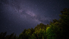 Ma galaxie spirale barrée préférée (prenzlauerberg) Tags: 2018 voielactée ciel sapin valais landscape 1424 nikon nikond610 night étoile nuit