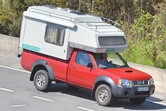 Nissan Navara Camper (Charles Dawson) Tags: m4 nissan nissannavara hj02afu