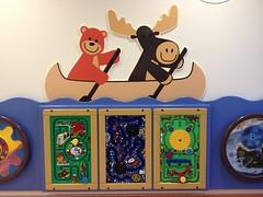 Happy Wildlife .... (Mr. Happy Face - Peace :)) Tags: shc campus hospital play area kidsplay moose bench canoe hbm creativity art2018 boat row characters