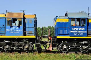 Multiple-unit, Diesel TEM2-2821 and TEM2UM-544
