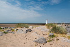 New Brighton Lighthouse, (Perch Rock Lighthouse). (Mat Price) Tags: wirral newbrighton perchrock merseyside rocks beach canon70d canonef1740mmf4lusm cokinpolarizingfilter