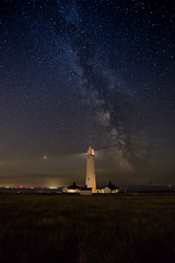 Stacking experiment (MarkWaidson) Tags: nashpoint lighthouse milkyway galacticcore stars night stacking sequator experiment