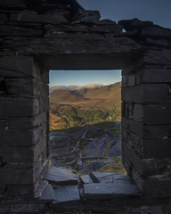 Play for Today (markrd5) Tags: wales snowdonia dinorwic slate quarry window ruins industry view vista relic nikon 1024mm