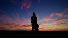 Summer Fires (SkylerBrown) Tags: dusk evening female girl model pretty silhouette sunset twilight woman