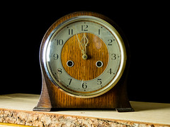 Chiming Clock (Andy Sut) Tags: nearlynoon mantlepiececlock chiming wooden clock vintage