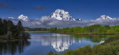 Oxbow Bend on a Sunny, Blue Sky Day - Grand Teton National Park (Wambo Jambo) Tags: oxbowbend grandtetonnationalpark mountain mountains wyoming landscape landscapephotography bruceikenberryphotography river rivers