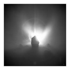 Solstice (picturedevon.co.uk) Tags: fineart bw mono minimal smoke grey stones light lensflare abstract studio mist fog dark square canon wwwpicturedevoncouk