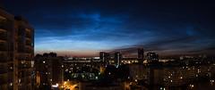 Sky's texture (pozzhe) Tags: kazan cityscape cloud lights pano sky sunset panorama