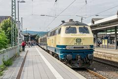 218 460-4 Conny Westfrankenbahn Koblenz Hbf 16.06.18 (Paul David Smith (Widnes Road)) Tags: 2184604 conny westfrankenbahn koblenz hbf 160618 sonderzug br218 v160 218460 dbmuseum sonderzuege pendelzug