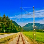 Wachtl-Bahn railway track near Kiefersfelden, Bavaria, Germany thumbnail
