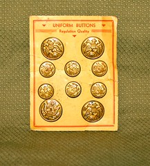 WW-2 U.S. PX Purchase (Pacific Kilroy) Tags: ww2 wwii us army relic militaria memorabillia artifact collectible worldwarii pacifictheater px buttons uniform brass metal clothing