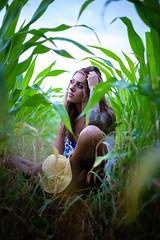Sitting amongst the crops (joshhansenmillenium) Tags: modeling freelance canon6d canon clouds cornfield exploring nature forest pond reflections sunset bw sepia 50mm 6d bokeh portrait photography landscape