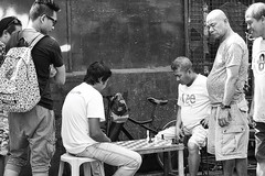 """..and the crowd went wild"" (Beegee49) Tags: street games chess board men playing bacolod city philippines"