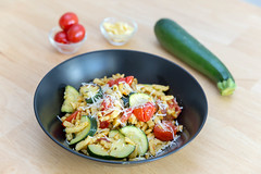 Golden brown roasted spaetzle with dried tomatoes and zucchini with ingredients in the background (marcoverch) Tags: köln lieferservice food hellofresh lebensmittel kochen veggie ernährung kochzauber vegetarisch essen healthy foodporn golden brown roasted spaetzle dried tomatoes zucchini ingredients background vegetable gemüse cooking dinner abendessen meal mahlzeit noperson keineperson lunch mittagessen pepper pfeffer gesund tomato tomate nutrition dish gericht cuisine delicious köstlich closeup nahansicht meat fleisch zutaten health gesundheit courgette pan pfanne greece wasser concert deutschland sigma bright airplane maitreya flag contrast