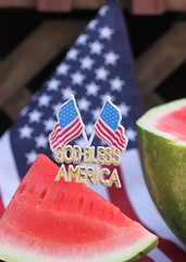 July 4th 2018 (Baking is my Zen) Tags: july4th july happy4thofjuly canonrebelt1i independenceday food watermelon flag americanflag godblessamerica dessert fruit dof depthoffield foodphotography