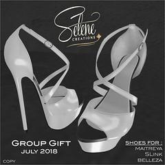 Group gift july 2018 (Selene Morgan) Tags: shoes maitreya belleza slink lara selenecreations