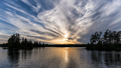 'Yet Another' (Canadapt) Tags: sunset lake clouds reflection trees island keefer canadapt