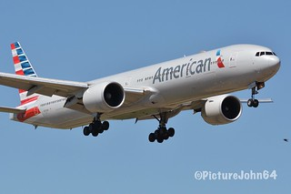 AA: 1st visit of AA220 American Airlines Boeing 777-300ER (N720AN) from Dallas Fort Worth diverted to New York JFK arriving at Schiphol Amsterdam