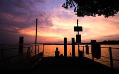 Afterglow (Hegglin Dani) Tags: zug zugersee switzerland schweiz sunset sonnenuntergang sun sonne silhouette wolken clouds afterglow abendrot abendstimmung eveningmood