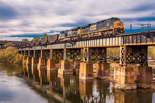Coal Train on James River Viaduct