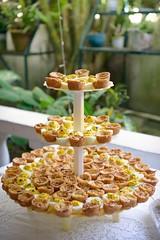 Buffet - stuffed eggs and mini quiche (*Amanda Richards) Tags: edible food treats birthday party menu stuffedeggs miniquiche quiche