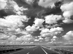 Route 66 (PeterCH51) Tags: route66 road roadtrip iconic historic historicroad iconicroad seligman peachsprings arizona usa america scenery landscape plains arizonascenery arizonalandscape iphone peterch51 bw blackandwhite monochrome