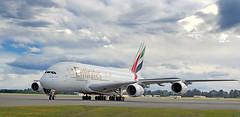 Airbus A380-800.Christchurch. NZ (Bernard Spragg) Tags: a6edcemiratesairbusa380800 aviation planes airports flight large lumix emirates