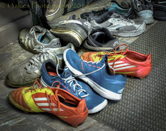 Footwear for the Game (SoS) (13skies) Tags: footballfever smileonsaturday soccer run shoot kick score play sweat dream worldcup love sos hdr canont3i highdynamicrange