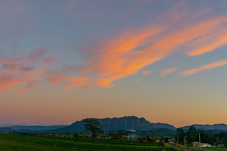 Sunset over Mt Roland