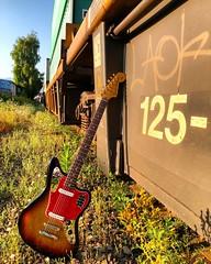 Lean on Me (Pennan_Brae) Tags: guitar guitars fenderguitar fenderguitars guitarphotography musicphotography electricguitar bassguitar fenderjaguar fender