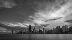 Sunset from Pier Park.... (Kevin Povenz Thanks for all the views and comments) Tags: 2016 april kevinpovenz illinios chicago windycity pierpark water lakemichigan reflection storm stormyweather clouds weather evening eveningsky sunset skyline skyscrapers blackandwhite bw buildings longexposure city sky buildong monochrome skyscraper dusk park canon7dmarkii sigma