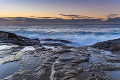 On the Edge Seascape (Merrillie) Tags: daybreak theskillion nature water terrigal nsw rocky sea clouds newsouthwales rocks earlymorning morning landscape centralcoast ocean australia sunrise waterscape coastal outdoors sky seascape dawn coast cloudy waves