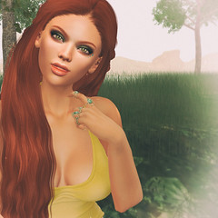 🍎 shady spot (Apple aka Ossia) Tags: maitreya lelutka stealthic pink fuel reign ginger redhead blogger secondlife blogging blog sl second life photograph photoshop photo portrait ps greenery