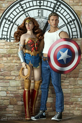 wonder woman & captain america (photos4dreams) Tags: toy 16 doll celebrity photos4dreams p4d photos4dreamz toys actor avengers schauspieler spielzeug man mann handsome puppe phicen captainamerica chrisevans steverogers stainlesssteelskeleton canoneos5dmark3 canoneos5dmarkiii tabletopphotography puppenstube diorama silicone silicon lebensecht jamesfranco silikon biegsam bendable move wheat skin smooth photos photo seamless dress flowery style play fashion mode fashionistas outfit kleider actionfigure dianaprince wonderwoman hiddensword comic dc galgadot dccomics princessofthemyscira superhero kitbash