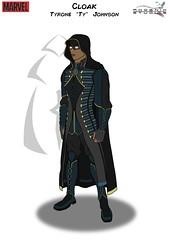"Cloak By Kyle ""Phoenix Studios 91"" McDonald (BuggyBug2010) Tags: marveldisney cloak and dagger shield tyrone ty johnson kyle phoenixstudios91 mcdonald"