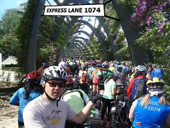 1074-bridge pedal (dela7) Tags: downunderchallenge1074 helmet backup trafficjam arches flowers
