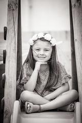 Eline-53 (sebastienloppin) Tags: shooting girl fille enfant children child black white bnw noiretblanc noirblanc lightroom canon 6dmarkii 24105f4l cute pretty posing portrait model young sit