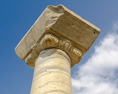 Ionic diamond (Adaptabilly) Tags: stone ephesus column iphotooriginal ionic capital decoration sky ephesos efes travel turkey clouds architecture roman ancient lumixg1 greek asia