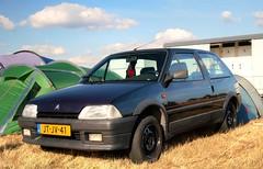 Citroën AX 1.1i Volcane (Skylark92) Tags: citroën water forest boat sky grass gelderland maurik van eiland window windshield tree building car road citroen jaar 100 holland netherlands nederland vehicle ax 11i volcane jtjv41 1994 onk origineel nederlands kenteken