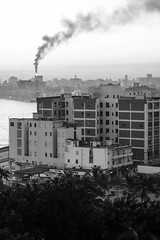 La Habana (marktmcn) Tags: la habana havana buildings city cityscape urban smoke dsc rx100 blackandwhite monochrome malecón cuba view bay bahía de