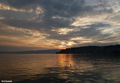 A nice summer evening (borisnaumoski) Tags: ohrid macedonia lake town sky sunset august summer nature