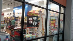 """Outside, looking in (Retail Retell) Tags: toys""""r""""us southaven ms tanger outlets mall shopping center complex outlet express geoffrey giraffe retail liquidation closing bankruptcy going out business former toy store toys r us desoto county toys""""r""""usoutlet toys""""r""""usexpress"""